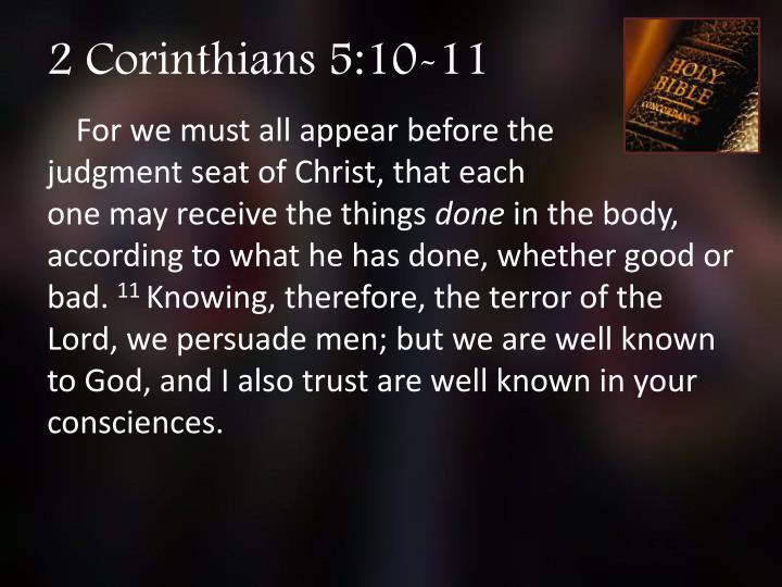 2 Corinthians 5:10-11