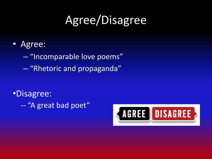 Agree/Disagree
