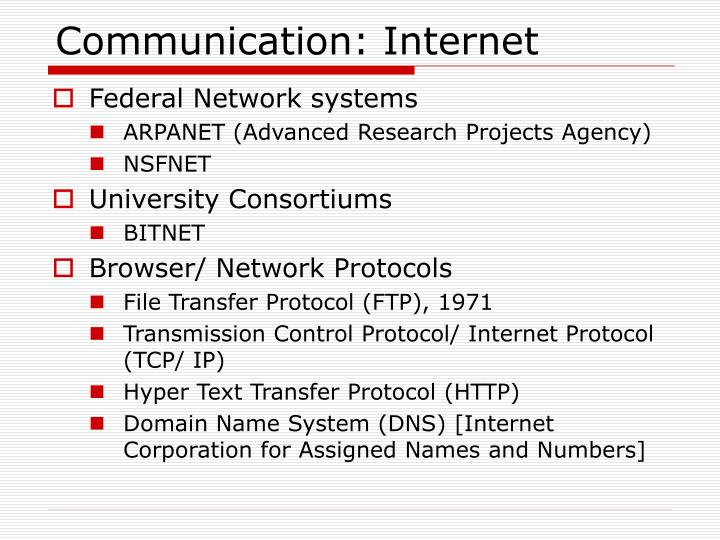 Communication: Internet
