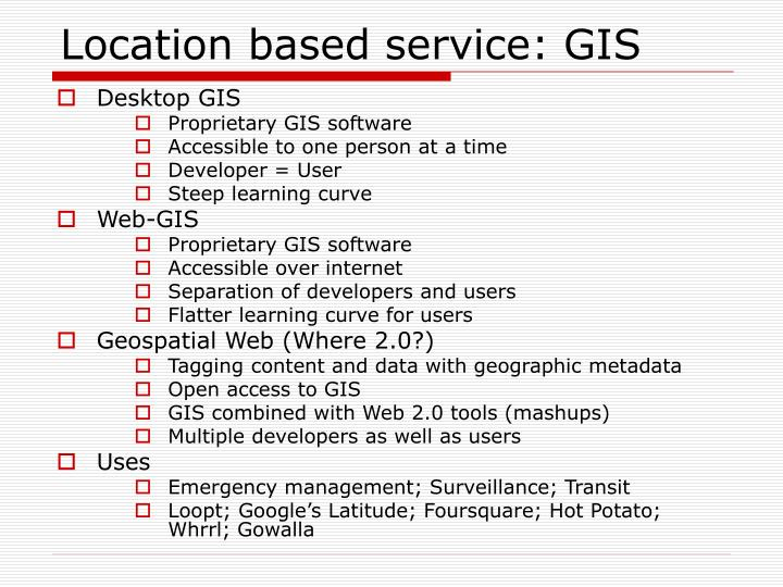 Location based service: GIS