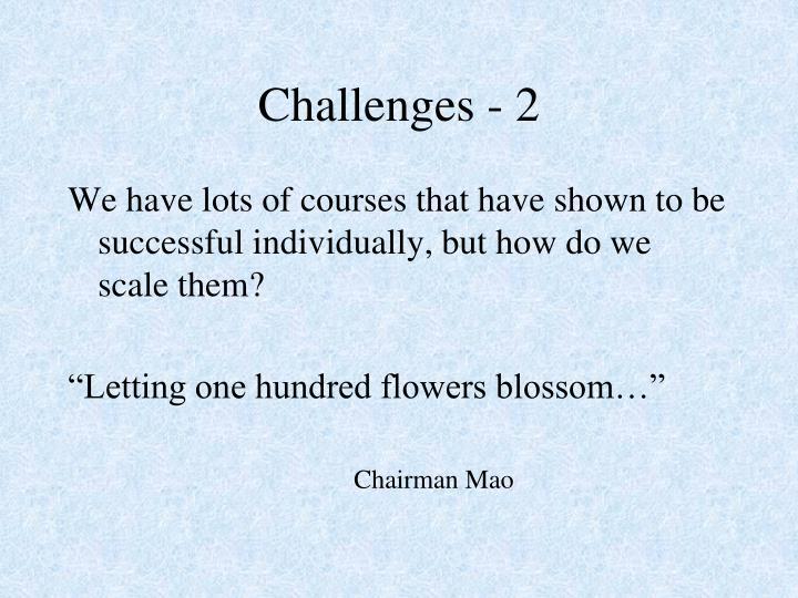 Challenges - 2
