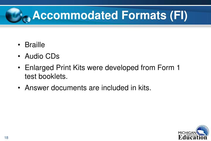 Accommodated Formats (FI)