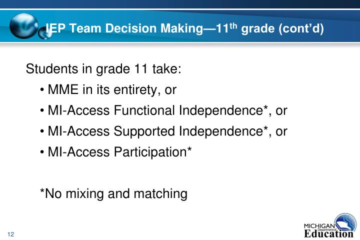 IEP Team Decision Making—11