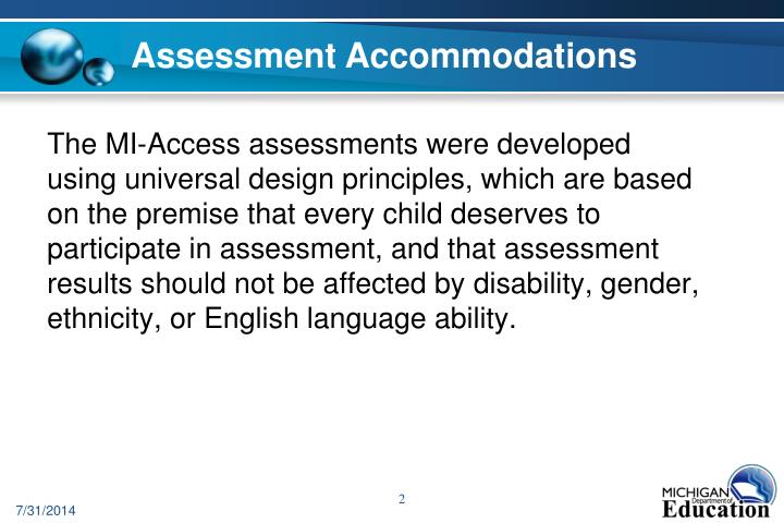 Assessment Accommodations