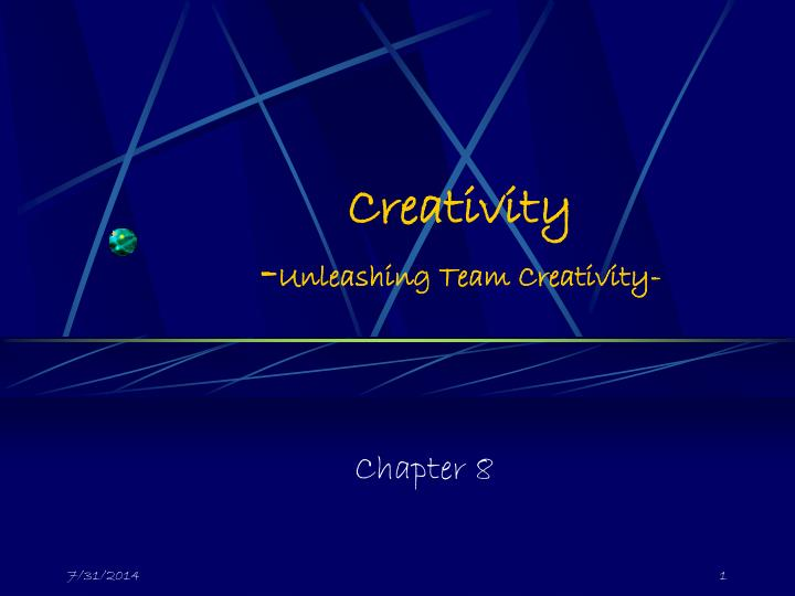 creativity unleashing team creativity