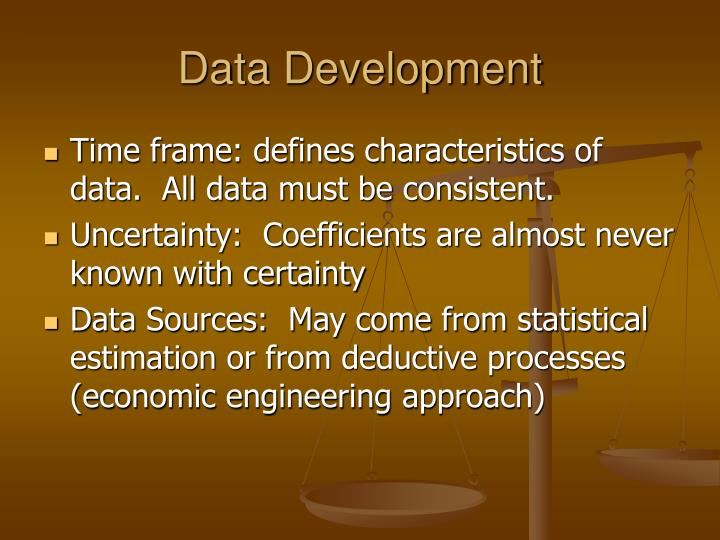 Data Development