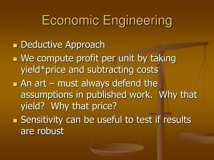 Economic Engineering