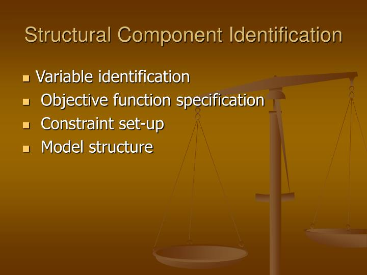 Structural Component Identification