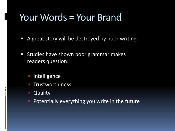 Your Words = Your Brand