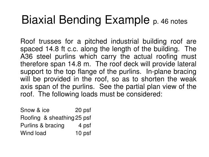 Biaxial Bending Example
