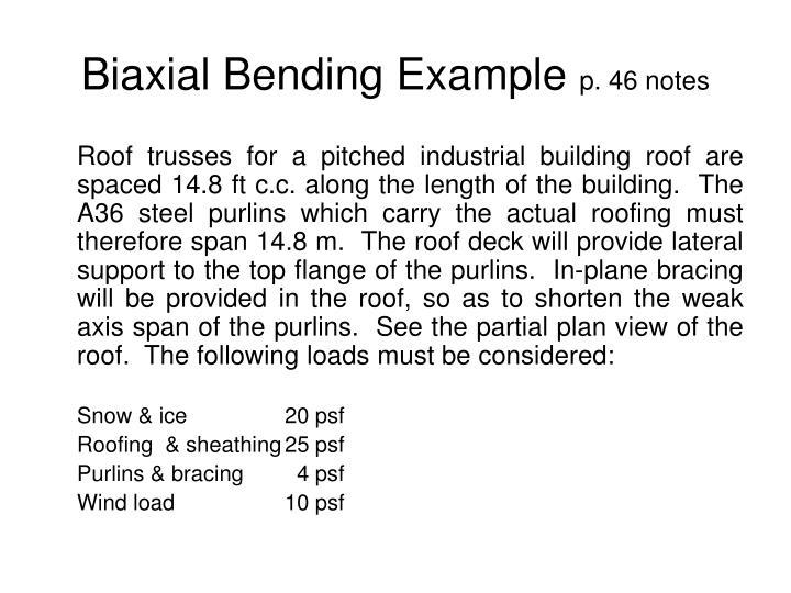 Biaxial Bending Example