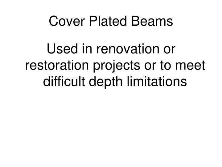 Cover Plated Beams