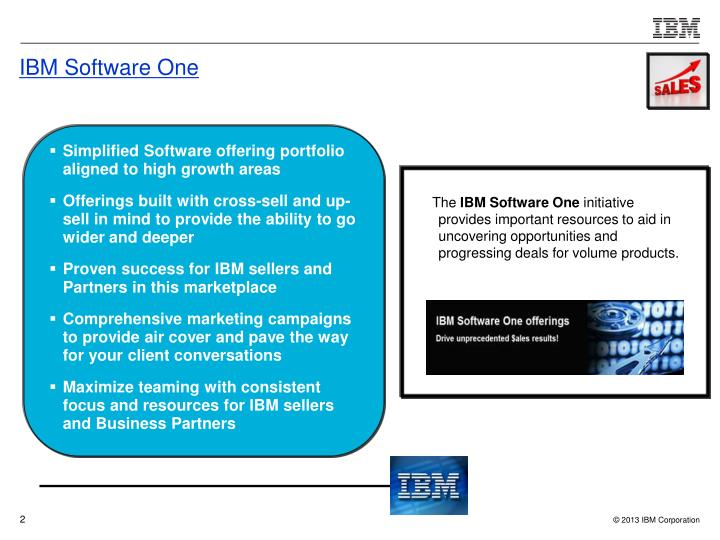 Ibm software one