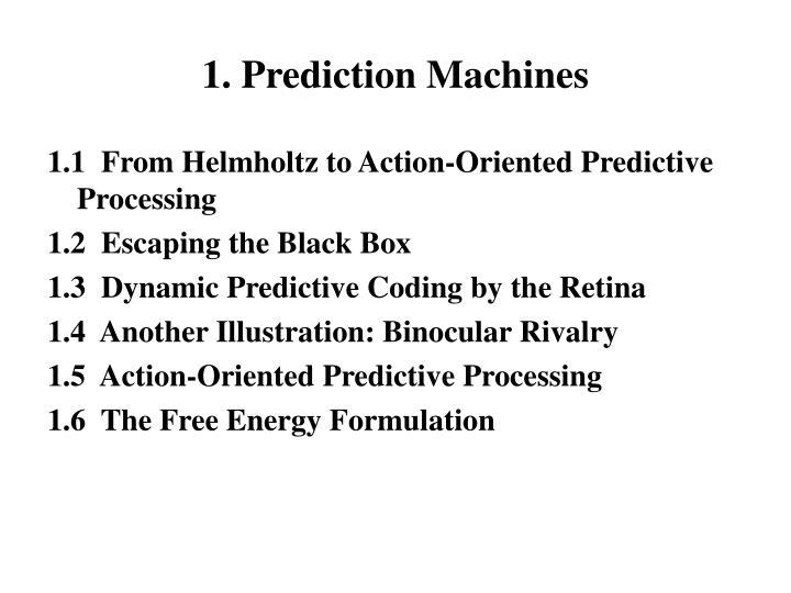 1. Prediction Machines