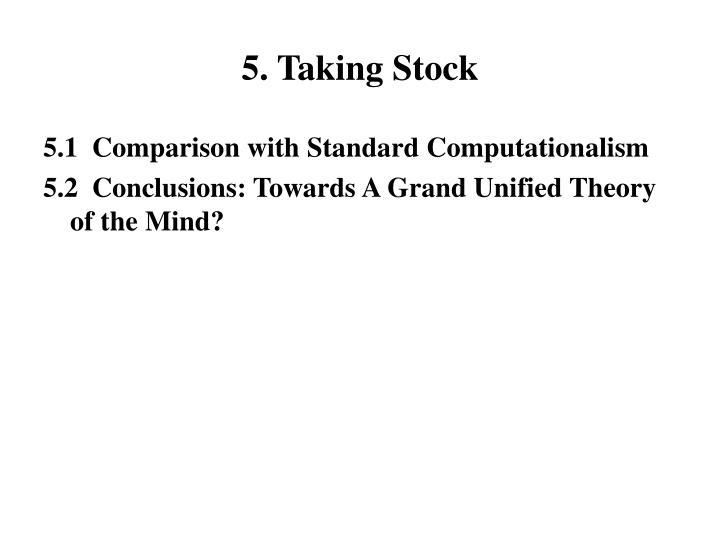 5. Taking Stock