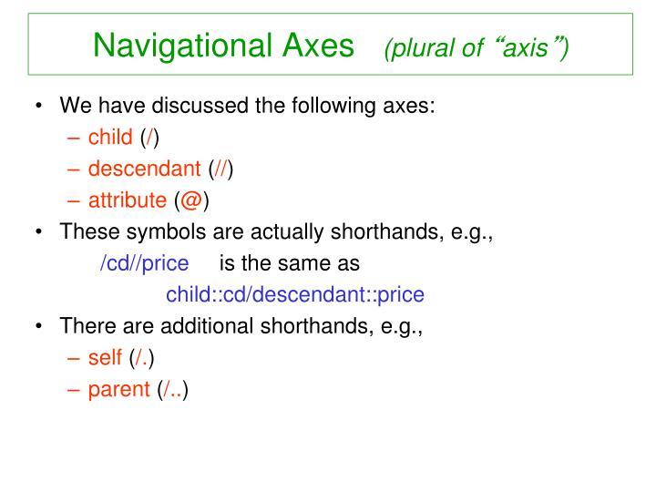 Navigational Axes