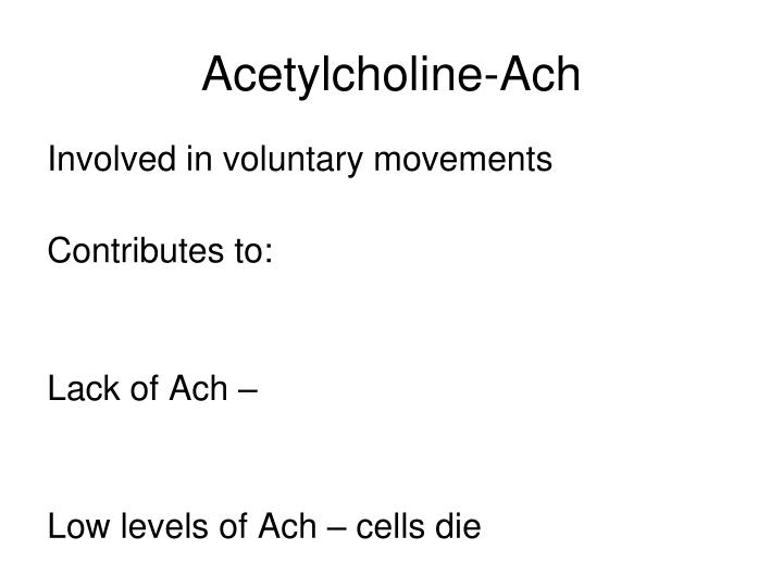 Acetylcholine-Ach
