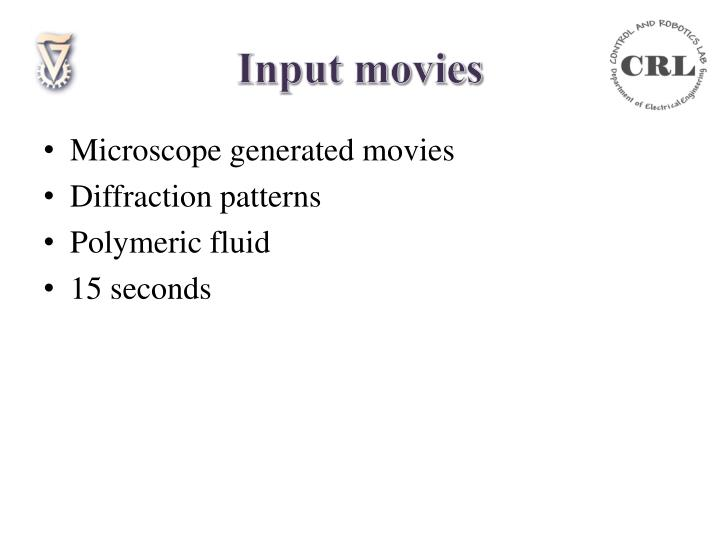 Input movies