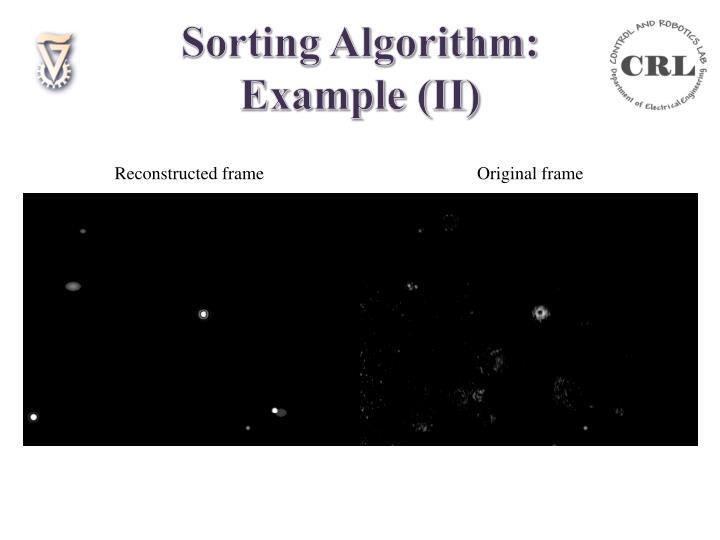 Sorting Algorithm: