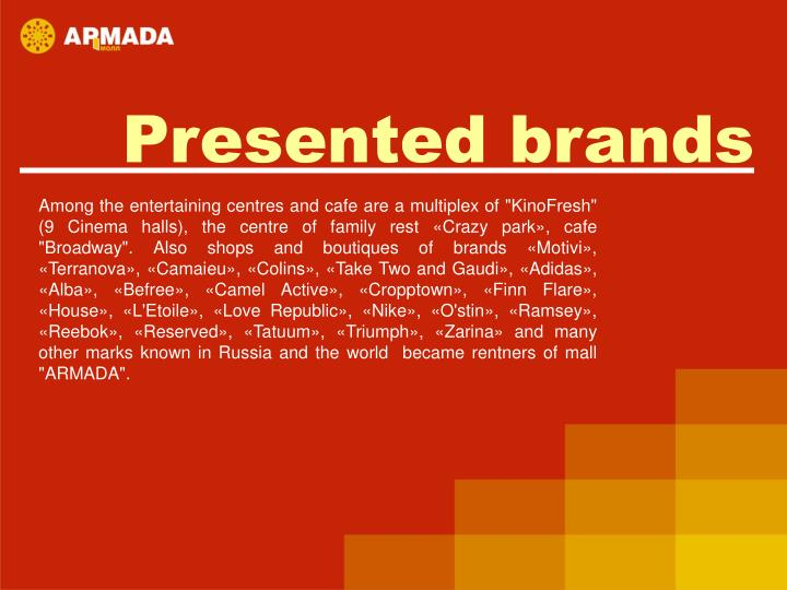 Presented brands
