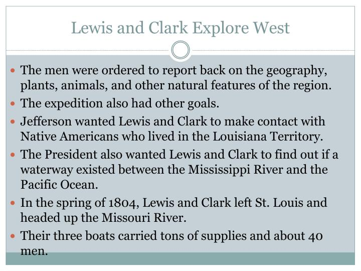 the jeffersonian era lewis and clark Historians and geographers judge the lewis and clark expedition, which  brought more than  jefferson embraced enlightenment-era science, especially  the.