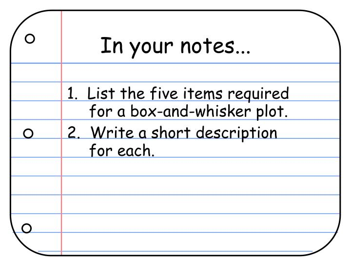 In your notes...