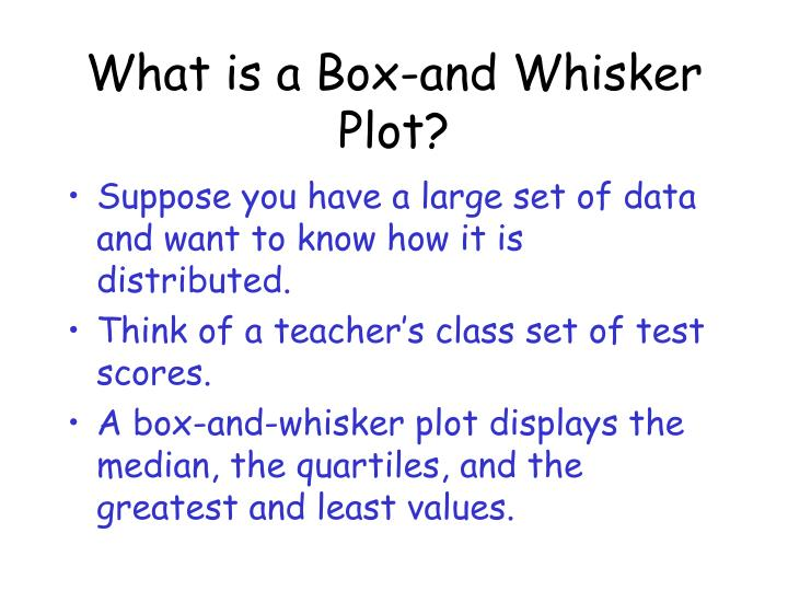 What is a Box-and Whisker Plot?