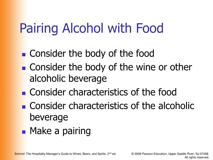 Pairing Alcohol with Food
