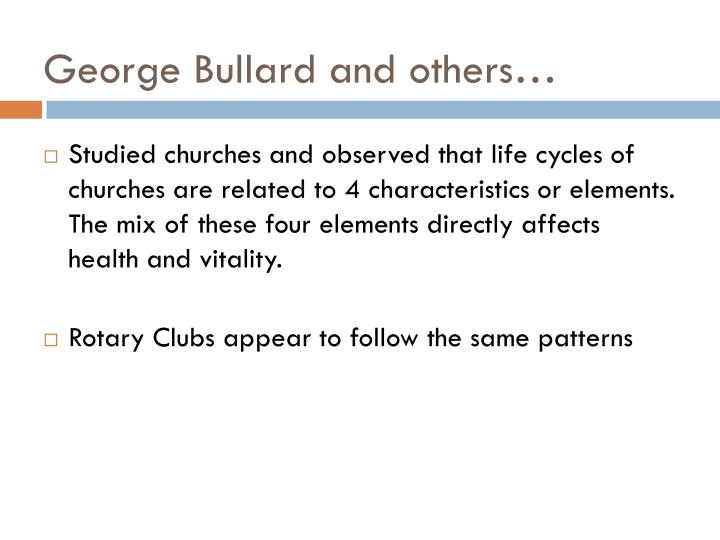 George Bullard and others…