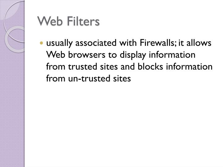 Web Filters