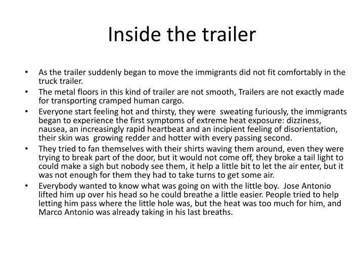 Inside the trailer