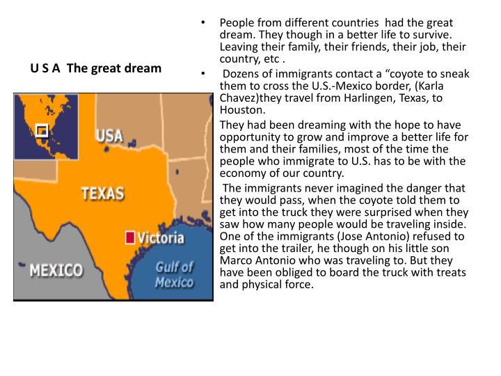 U S A  The great dream