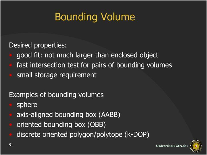 Bounding Volume