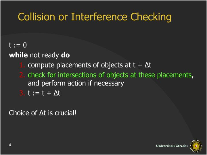 Collision or Interference Checking