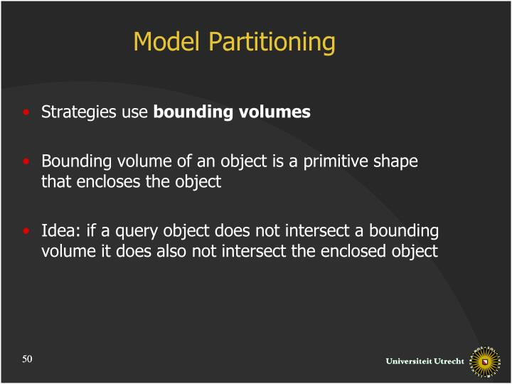 Model Partitioning