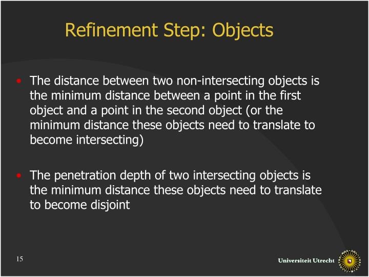 Refinement Step: Objects