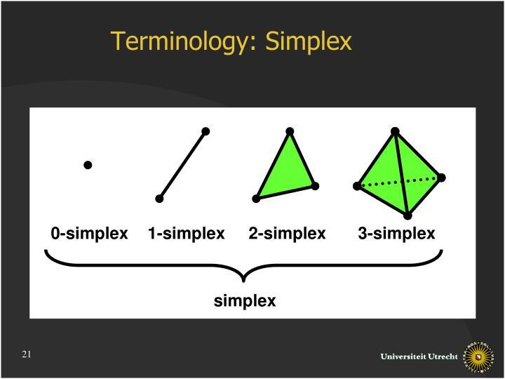 Terminology: Simplex