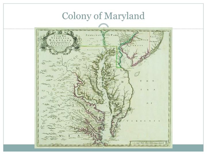 Colony of Maryland