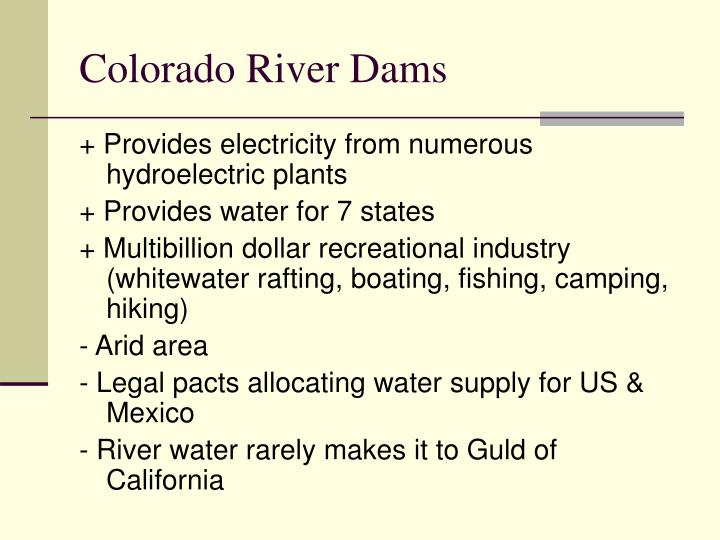 Colorado River Dams