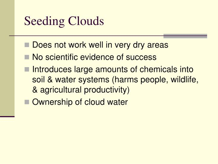 Seeding Clouds
