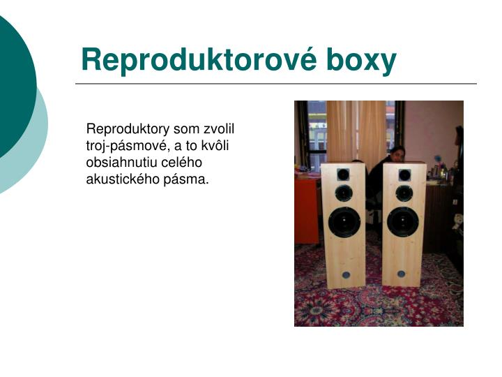 Reproduktorové boxy