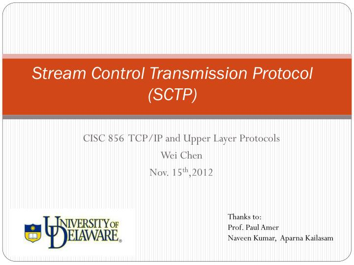 Stream control transmission protocol sctp