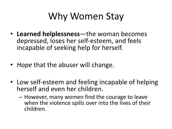 Why Women Stay