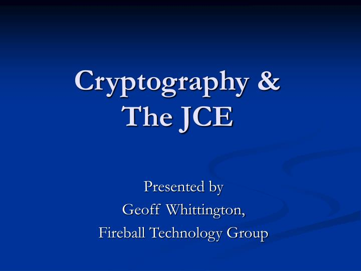 Cryptography &