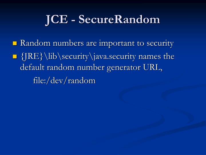 JCE - SecureRandom