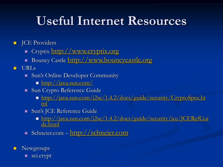 Useful Internet Resources