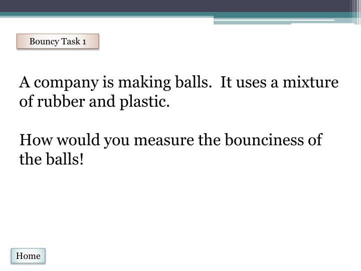 Bouncy Task 1