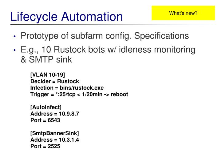Lifecycle Automation