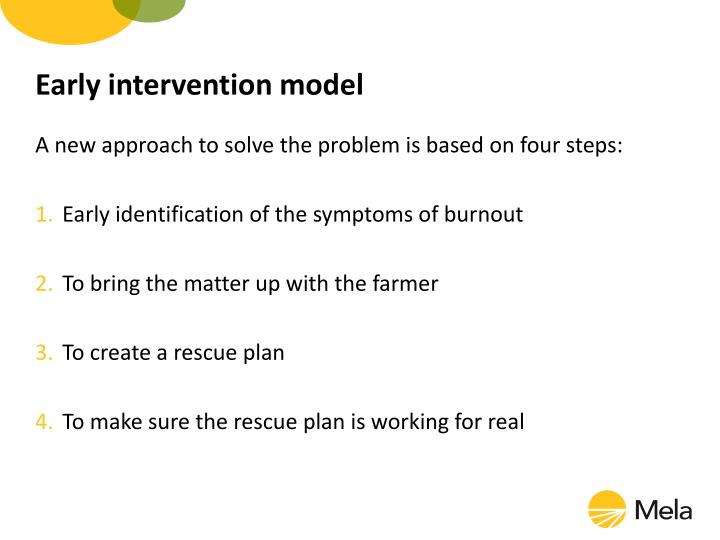 Early intervention model