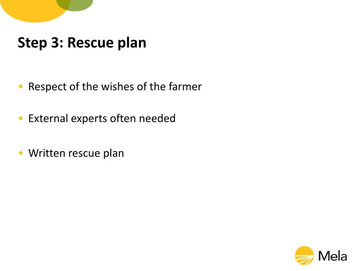 Step 3: Rescue plan